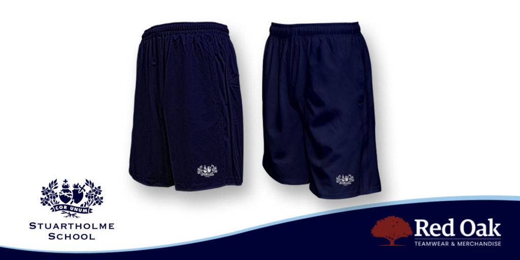 custom school shorts