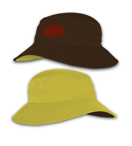 Red Oak_Reverse Bucket Hats_Brown